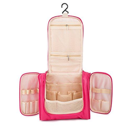 BIGWING Style-Neceser de Viaje Bolsa de Colgante Desmontable Impermeable Organizador Almacenamiento de Maquillaje Cosméticos, Fucsia