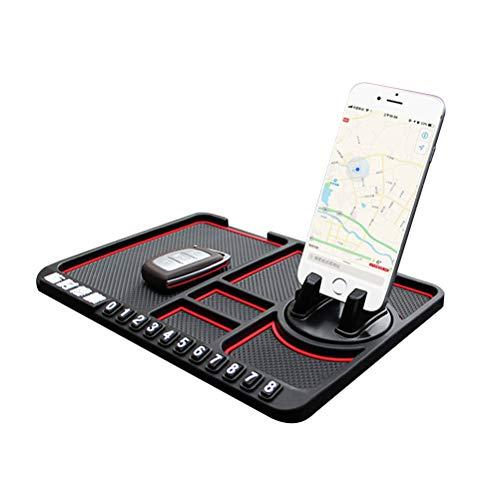 SayHia Multifunktionale Auto Anti-Rutsch-Matte Handyhalter Temporäre Parknummer Zeichen Panel Storage Pad