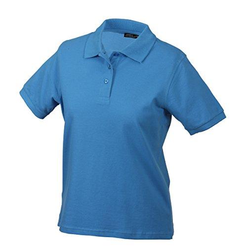 JAMES & NICHOLSON - polo piqué coupe ajustée - manches courtes - JN071 - Femme bleu aqua