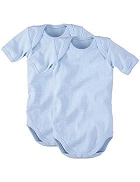 wellyou Baby und Kinder kurzarmbody/baby-body mädchen und junge aus 100% Baumwolle, kurzarm body in hell-blau...