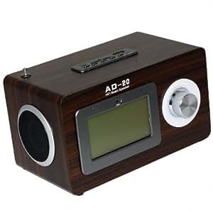 stylisches radio im retro holz design multimedia radio mit usb anschluss sd speicherkarten. Black Bedroom Furniture Sets. Home Design Ideas