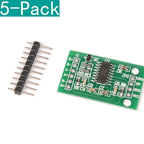 This module uses 24 high-precision A / D converter chip hx711, is designed for high-precision electronic scale and design, with two analog channel input, the internal integration of a gain programmable amplifier 128. Input circuit can be configured t...