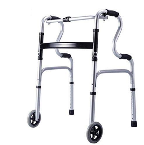 XYLUCKY Faltender leichter Aluminium-Fußrahmen / Wanderer mit 2 Rädern - höhenverstellbar