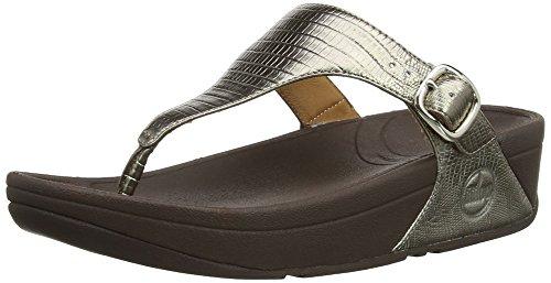 Fitflop Skinny Croc, Damen Sandalen Braun