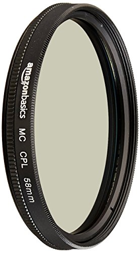 AmazonBasics Circular Polarizer Filter- 58 mm