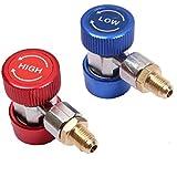 """WINOMO Réglable AC R134A coupleur rapide connecteur adaptateur haut bas 1/4"""" SAE HVAC"""