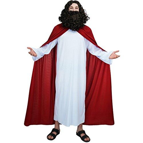 Dress Für Weihnachten Kostüm Fancy - Sea Hare Männer erwachsene Jesus religiöse Kostüm für Weihnachten Heilige religiöse Fancy Dress Outfit
