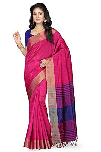 Rani Saahiba Synthetic Saree (Prg11_Pink - Blue)
