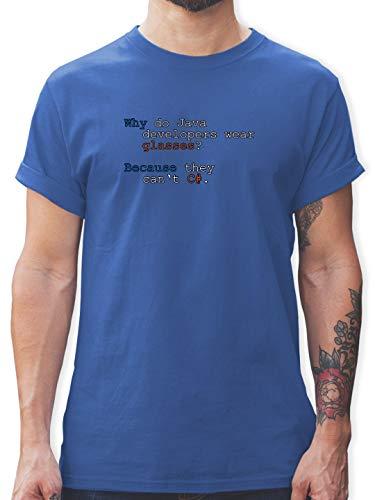 Programmierer - Java Developers - 3XL - Royalblau - L190 - Herren T-Shirt und Männer Tshirt - Oversize-rechner