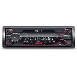 Sony DSX-A410BT - Receptor multimedia para coche (conexión Bluetooth doble, NFC, ecualizador de 10 bandas, función karaoke, 4 x 55 W, MP3 y FLAC, Extra Bass, USB, AOA 2.0) negro