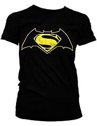 Batman vs Superman Logo Mujeres camiseta de (Black)