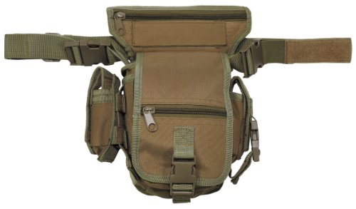 MFH Hip Bag Security Bein und Gürtelbefestigung, coyote tan