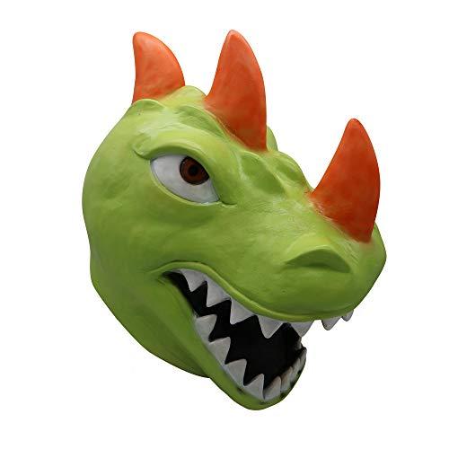 Kostüm Party Spiele - Wawer Tiere Maske Spiel Party Geschichte Neuheit Latex Kopf Maske Cosplay Kostüm Party Zubehör (Dinosaurier)