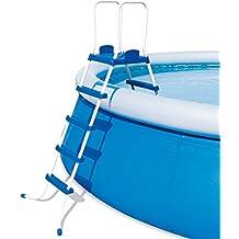 Bestway Echelle plateforme sécurité 2 x 4 marches + Plateforme pour piscine Hauteur 132 cm
