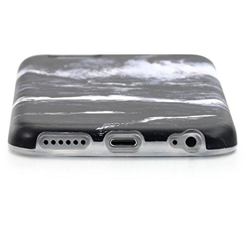 Schutzhülle für Apple iPhone 6 / 6S [Marmor / Marble] Design - Hard case cover Viele Varianten (Weiß - Marble) von Panelize C. & A. Schwarz Weiß