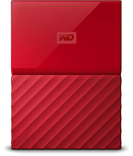 WD My Passport 2TB Portable Hard Drive and Auto Backup Software for PC, Xbox One and PlayStation 4 - Red