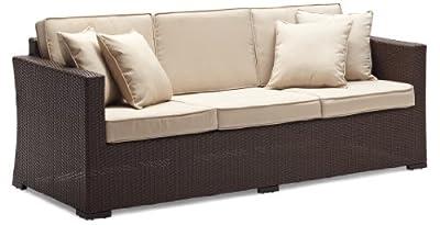Strathwood Griffen Wetterfestes 3-Sitzer-Sofa aus Polyrattan