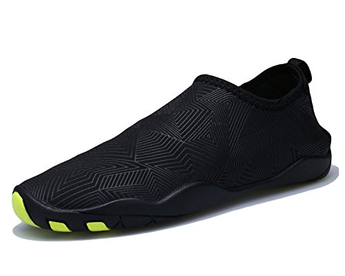 Bdawin Hommes Chaussures d'eau Poids léger Séchage Rapide Sport Aquatique Chaussons Pour Piscine et plage,VD01M NetBlack EU43