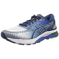 ASICS Gel-Nimbus 21, Men's Road Running Shoes, Multicolour (White/Lake Drive), 42.5 EU
