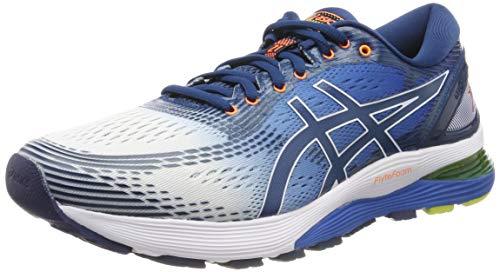 Asics Gel-Nimbus 21, Zapatillas de Running para Hombre, Blanco (White/Lake Drive 100), 44 EU
