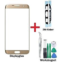 iTech Germany PREMIUM Pantalla de cristal kit de reparación para Samsung Galaxy S7 EDGE en Oro - Oleofobico panel frontal táctil para el Modelo SM-G935F + 3M Adhesivo y de Juego de herramientas