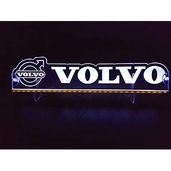 24V Red LED Interior Cabin Light Plate for VOLVO Trucks Neon Table Sign Lamp