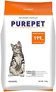 Purepet Adult(+1 year) Dry Cat Food, Mackerel, 1.2kg
