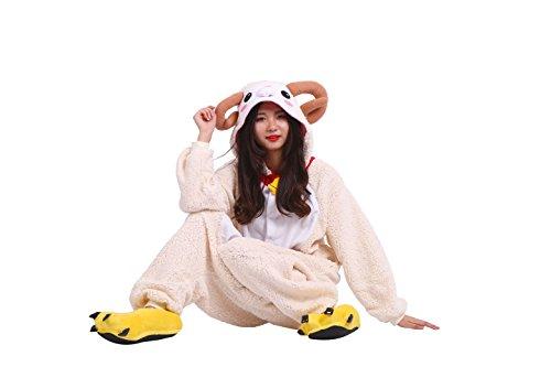 Imagen de yuwell kigurumi pijamas unisexo adulto traje disfraz animal animal pyjamas, nueva cabra s height 150 160cm  alternativa