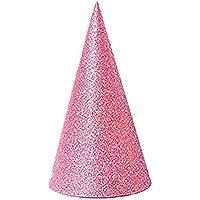 Romote 12pcs Cono Parte del Brillo Sombreros Sombreros Triángulo de cumpleaños para niños y Adultos Suministros Festival de Vacaciones Decoración de Fiesta (Rosa)