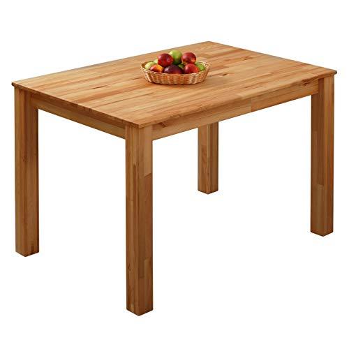 Krokwood Bonn Massivholz Esstisch in Buche 110x75x75 cm FSC100 % massiv Tisch geölt Buchenholz Esszimmertisch für Küche praktischer Küchentisch Holztisch vom Hersteller und kostenlose Lieferung