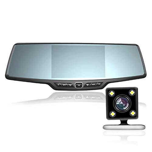 ZHY Rückspiegel-Fahrrekorder, 170 ° Weitwinkel-1080P-Hochauflösungslinsen-Schwerkraftmessung Kann die intelligente Bewegungserkennungsfunktion automatisch sperren