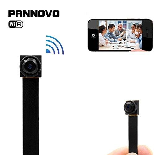 Mini cámara inalámbrica wifi espía ocultos,PANNOVO HD 720P wifi ip p2p Detección de movimiento de la cámara Grabador de video inalámbrico