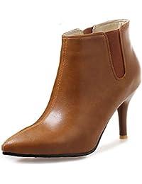 f6ecc3e67da18a Aisun Damen Gummizug Spitzen Kurzschaft Ankle Boots Stiletto High Heels  Stiefelette
