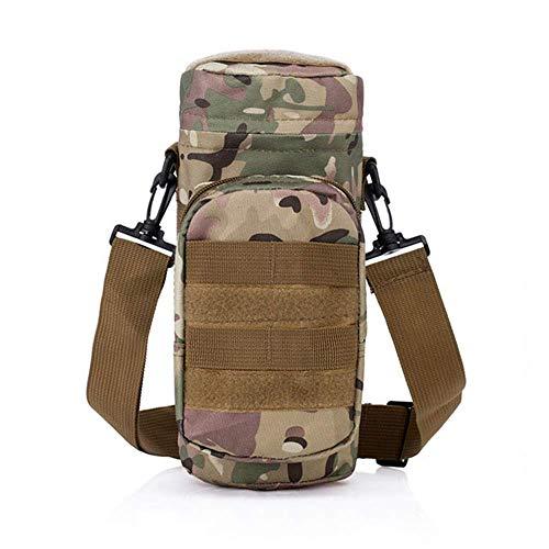 PIN XIU Outdoor-Multifunktions-Camouflage Wasserkocher Tasche Schultertasche wasserdicht Oxford Reise Brusttasche Reiten Taktische Wasserkocher Taschen Wandern Männer und Frauen gelten