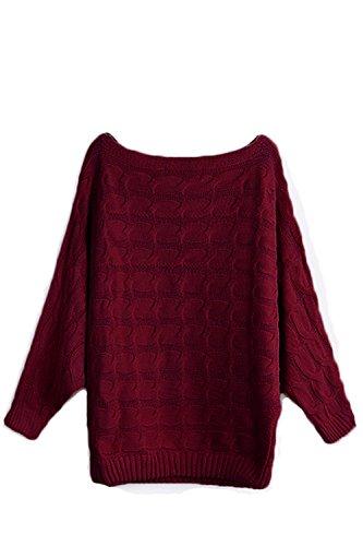 YOINS Damen Pullover Wein