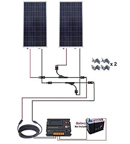 Eco-Worthy 300W polycristallin solaire Starter Kit: 2pcs