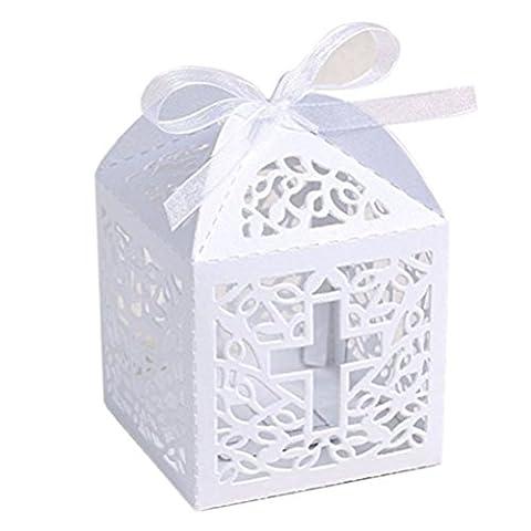 Pixnor 50pcs Boîtes à bonbons bonbons mariage cadeaux boîtes faveur