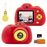 Cámara para Niños Cámara de Fotos Digital8MP Cámara Infantil Digital 1080P HD Videocámaras Batería Recargable Regalos de Cumpleaños para Niños