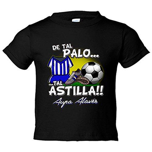 Camiseta niño De tal palo tal astilla Alaves fútbol - Negro, 9-11 años