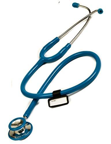 Doppelkopf Stethoskop in Mittelblau für Krankenschwester, Praxis, Rettungsdienst, Pflegedienst super Akustik