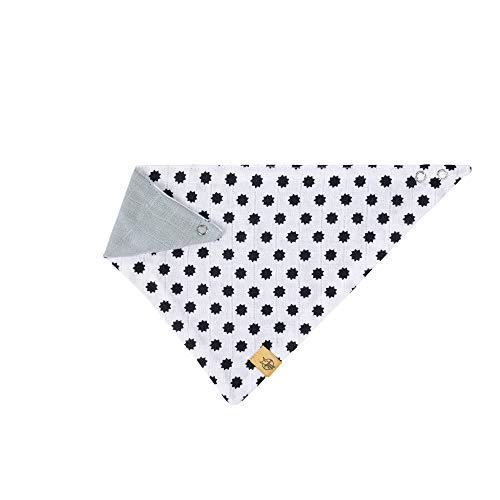 LÄSSIG Baby Kinder Bandana Lätzchen Baumwolle Druckknopf saugfähig doppellagig beidseitig tragbar/Bandana Little Chums Stars