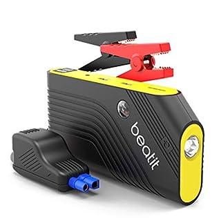 BEATIT 600A Auto Starthilfe Tragbare Jump Starter (bis zu 5.5L Benzin) Starthilfe Power Pack Starthilfe Powerbank 14000mAh Dual USB Ausgänge mit Kompass, LED Taschenlampe SOS