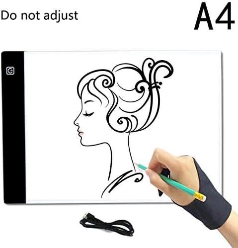 Iiloens Ultra Portable Portable Portable LED copie station Tableau à peindre Art outils travail A4 Non-dimmable blanc B07KB4H82K e8501b