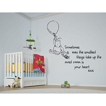 Vu0026C Designs Ltd (TM) Winnie The Pooh Sometimes The Smallest Things Girls  Room Boys Room Baby Nursery Large Statement Wall Sticker Decal Mural Vinyl  Art Part 78