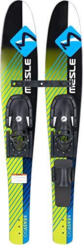 MESLE Combo-Ski Easy Go 137 cm, Kinder und Jugend Wasserski, Trainer Bar, mit Monoschlaufe, grün blau schwarz -