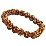 Shopivate Set of 2 Mukhi Rudraksha Bracelet with Elastic Band for Men & Women(Adjustable)(Color May Vary)