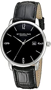 Stuhrling Original Ascot 997L.02 - Reloj de pulsera Cuarzo Hombre correa dePiel Negro de Stuhrling Original