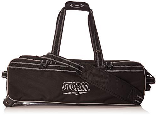 Storm 3-Ball Tournament Travel Bag 3Ball Tournament Tasche, Schwarz/Weiß (3 Bowling Ball Tasche)