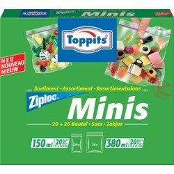 Toppits Ziploc Minis 20 x 150ml (Mini Loc Zip)