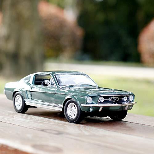 PENGJIE-Model 1:18 Ford Mustang Ford 1967 Modello di Auto in Lega Simulazione Modello di Auto (Colore : 1967 Mustang 024 Green)